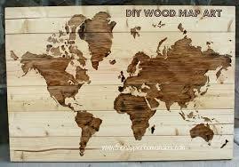 make it diy wooden world map wall art