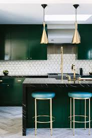rooms with painted furniture. Emerald Green Kitchen And White Tile Flooring Rooms With Painted Furniture