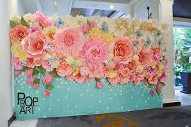 Tissue Paper Flower Wall Art Wedding Paper Flowers Wall Anything Flowers Paper Flowers
