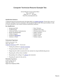 Pc Technician Resume Sample Auto Body Tech Of Puter Resumes Network