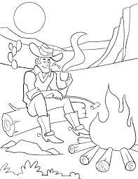 Campfire Coloring Page Dallas Cowboys Coloring Page Cowboy Coloring