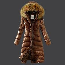 moncler jacket 2016 new moncler womens fashion brown long down coat fur collar 100cm m3001 moncler toronto moncler clothing save up to 80
