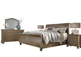 Light Brown Dresser And Nightstand Ashley Trishley 5pc Bedroom Set E King Sleigh Bed Two