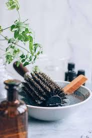 diy hair brush cleansing soak
