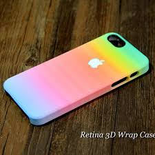 Rainbow Abstract 3D Wrap iPhone 5S Case from RetinaCase on Etsy