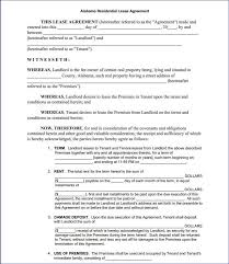 Rental Agreement Application Detail Free Printable Residential Lease