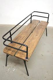 metal and wooden benches indoor outdoor bench is a handmade made to order built with reclaimed d16 reclaimed
