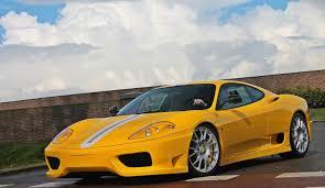 Yellow Ferrari 360 Challenge Stradale - Full Acceleration - YouTube