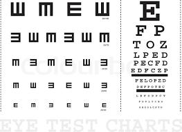 E Chart Test Vector Snellen Eye Test Charts For Stock Vector