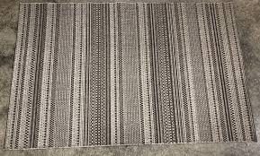 details about pottery barn gray parker synthetic indoor outdoor rug 5x8 authentic