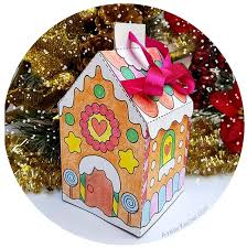Gingerbread house with gingerbread lady and gingerbread boy. Printable Gingerbread House Template To Color Ayelet Keshet