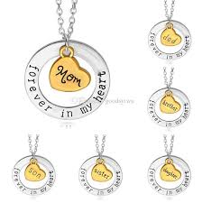 whole forever in my heart necklace mom daughter sister grandma family heart pendant necklace women jewelry best gift pendant silver chain necklace from