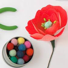 Make A Paper Poppy Flower How To Make Paper Poppy Flowers Hallmark Ideas Inspiration