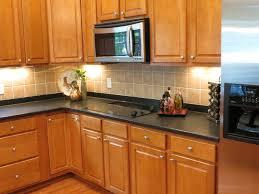 kitchen after backsplash installation and staging