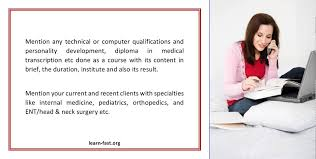 a medical transcriptionist resume will highlight your unique a medical transcriptionist resume will highlight your unique skills and qualifications