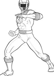 Power Rangers Coloring Pages Printable Super Heroes Coloring Pages