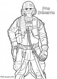 Small Picture Star Wars the force awakens poe dameron coloring pages Printable