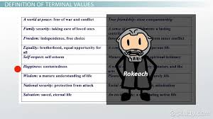 Personal Value Statement Examples Beauteous Terminal Values Definition Examples Video Lesson Transcript