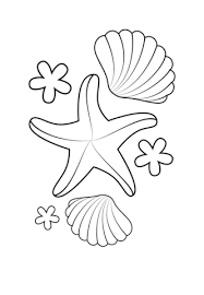 Small Picture Starfish and Shells coloring page Free Printable Coloring Pages