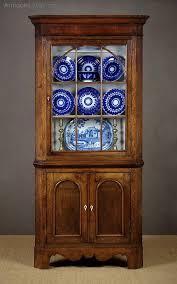welsh oak corner cupboard c 1830
