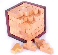 Wooden Games For Adults Desk Novelty 100D Wooden Tetris Puzzle Brain Teaser Puzzles Game for 3