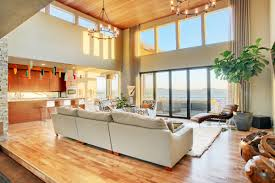 Living Room With High Ceilings Decorating Decorations Interesting Home Living Room Design With L Shape