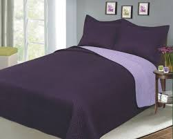 Reversible Solid Color Mini Quilt Sets, Twin, Plum/Lilac | Ease ... & Reversible Solid Color Mini Quilt Sets, Twin, Plum/Lilac Adamdwight.com