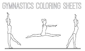 coloring pages gymnastics coloring pictures printable sheets pages p