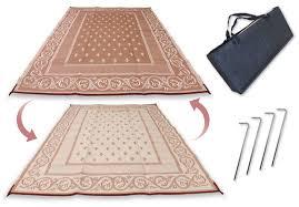 redwood mats patio mat 9 x 12 beige reversible outdoor rug camping rv mat