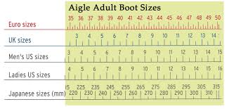 Aigle Rain Boots Size Chart Size Charts