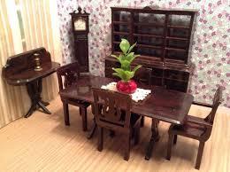dollhouse dining room furniture. Plasco 9 PIECE DINING ROOM! Vintage Dollhouse Furniture Fits Ideal Maarx Renwal Dining Room N