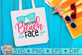 Make a cute diy water bottle, tote bag or swimsuit coverup to enjoy the summer sun! Resting Beach Face So Fontsy