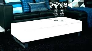 white gloss coffee table square