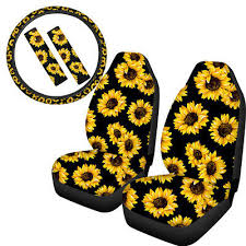 5 pack sunflower car seat covers combo