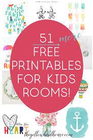 Printable Kids 51 Free Printables For Kids Rooms Nursery Decor Series
