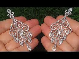 estate si1 f natural diamond chandelier cocktail earrings 14k white gold a141499