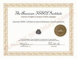 Fake American Tesol Certificate