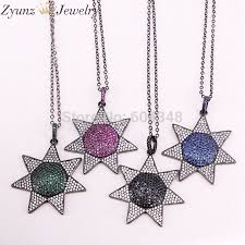link chain 5 strands zyz320 7001 pave zirconia pendant pave flower pendant necklace flower