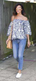 Lucy Mecklenburgh cuts a chic figure in an embroidered top Daily.