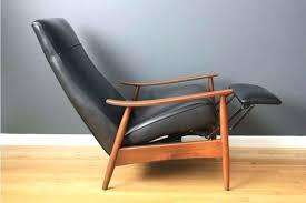mid century recliner amazing of vintage leather recliner with mid century recliner chair show home design