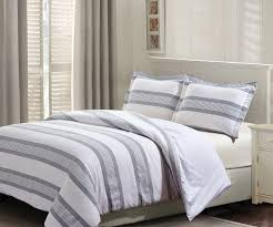 judson 3pc 100 cotton gray and white stripes duvet cover set com