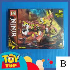 Một hộp] Non - lego ninjago - xếp hình ninja Season 13 Cole , Kai , Jay ,  Lloyd cưỡi rồng đất kỳ lân lắp ghép MG223 chính hãng 139,000đ