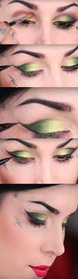 makeup tutorials for green eyes two winged electric green eye looks easy eyeshadow video