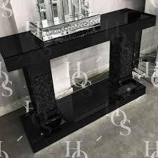 black hallway furniture. Black Mirror Crush 2 Pillar Console Table Hallway Furniture