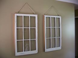 exterior: Stunning Interior With Hanging Diy Window Frame Also String As  Perfect Wall Decor Colored