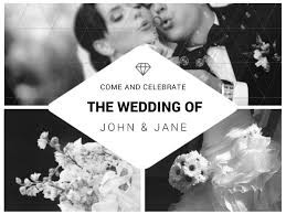 Collage Card Maker B W Collage Wedding Invitation Card Maker Create Custom Photo