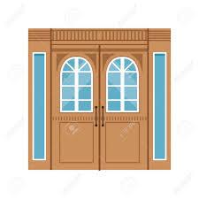 elegant front doors. Vintage Double Wooden Doors, Closed Elegant Front Door Vector Illustration Stock - 86317645 Doors L