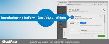 Introducing The Jotform Docusign Widget The Jotform Blog