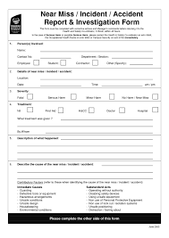 Employee Incident Report Template As Well Of Osha Accid On Images Of ...