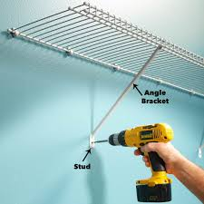 angle bracket wire shelving family handyman tim considers aesthetics when installing